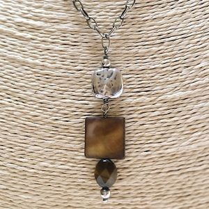 SILPADA Sterling Tiger's Eye MOP Necklace 925